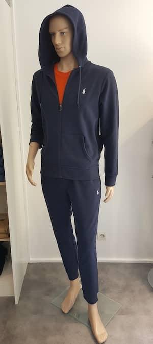 RALPH LAUREN Jogging aviator navy et T-shirt orange